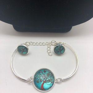 Jewelry - NWT Tree of Life Necklace Bracelet Earring  set